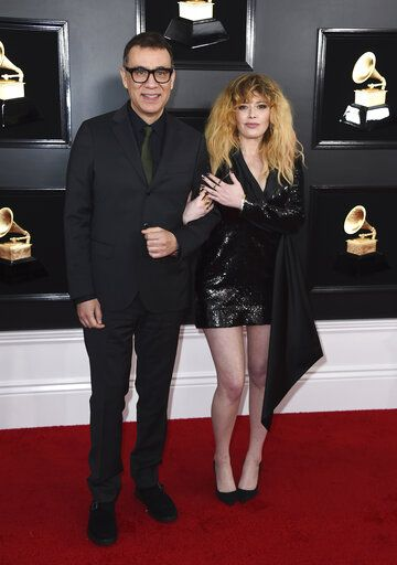 Fred Armisen, left, and Natasha Lyonne arrive at the 61st annual Grammy Awards at the Staples Center on Sunday, Feb. 10, 2019, in Los Angeles. (Photo by Jordan Strauss/Invision/AP)