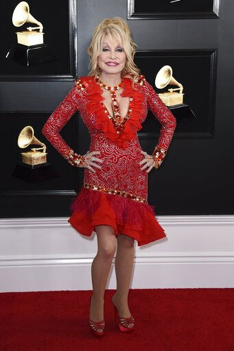 Dolly Parton arrives at the 61st annual Grammy Awards at the Staples Center on Sunday, Feb. 10, 2019, in Los Angeles. (Photo by Jordan Strauss/Invision/AP)