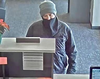 Authorities are searching for this man suspected of robbing a Rolling Meadows bank Saturday morning. The FBI says he should be considered armed and dangerous.
