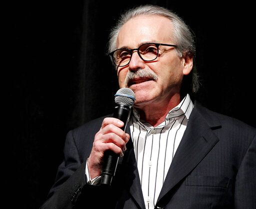 "FILE - In this Jan. 31, 2014 photo, David Pecker, Chairman and CEO of American Media, addresses those attending the Shape & Men's Fitness Super Bowl Party in New York. An attorney for the head of the National Enquirer's parent company says the tabloid didn't commit extortion or blackmail by threatening to publish Amazon CEO Jeff Bezos' explicit photos. Elkan Abramowitz represents American Media Inc. CEO David Pecker. He defended the tabloid's practice as a ""negotiation� in an interview Sunday, Feb. 10, 2019, with ABC News. (Marion Curtis via AP, File)"