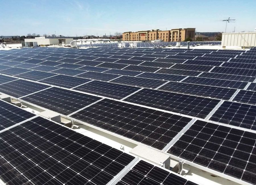 Lake County plans to convene a solar energy task force in cooperation with several communities to create a model ordinance to deal with an expected increase in proposed solar energy projects. This rooftop array is at World Bioproducts LLC building in Libertyville.