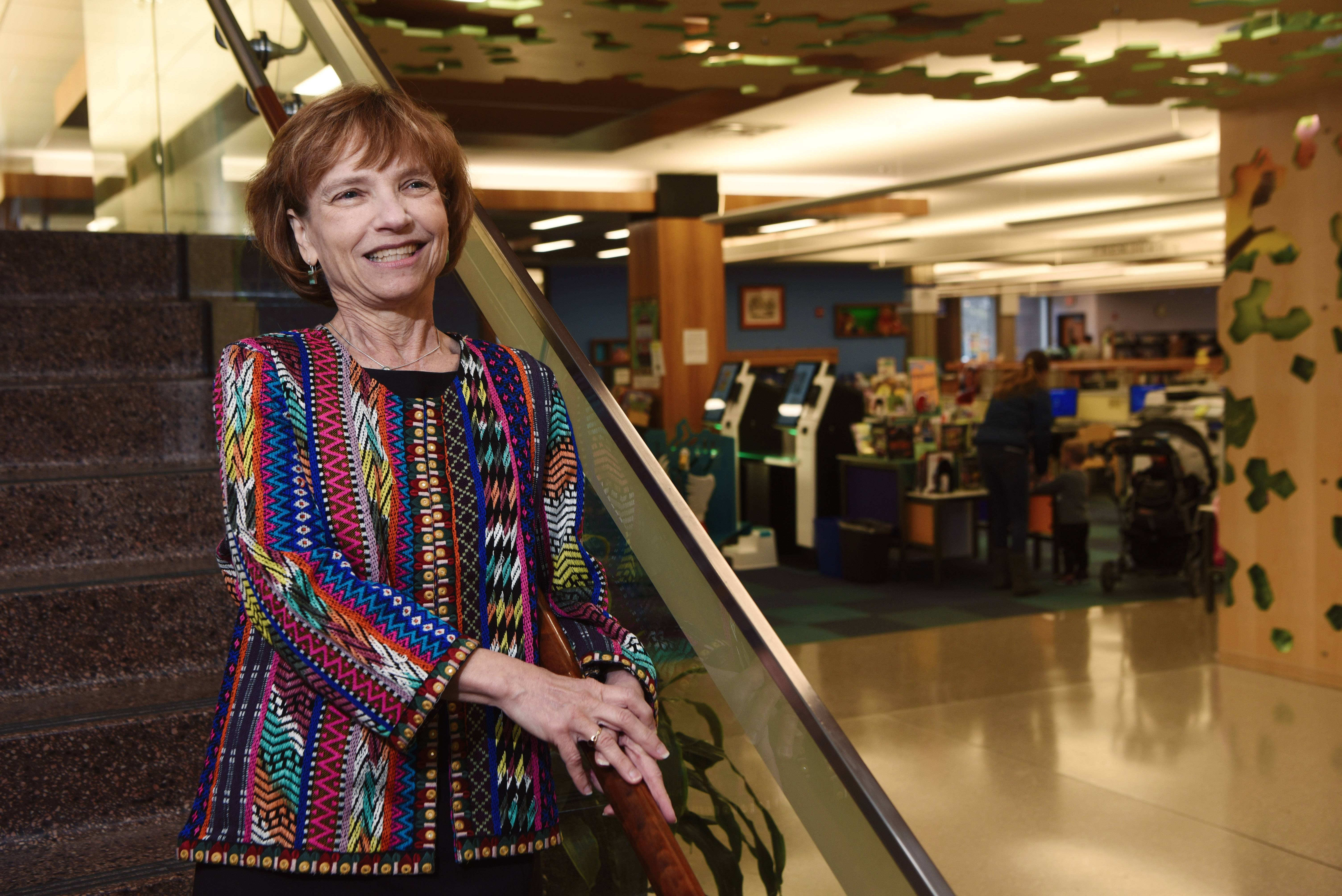 Marilyn Genther is stepping down in June after about 27 years as executive director of the Mount Prospect Public Library.