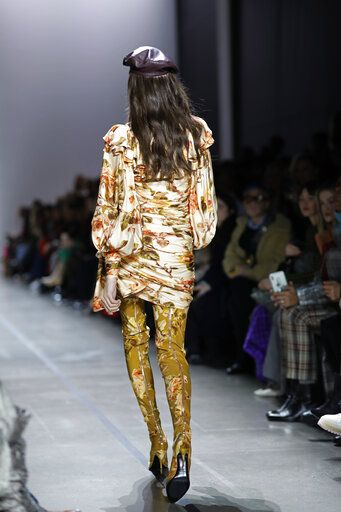 Fashion from the Zimmermann Fall 2019 show is modeled during Fashion Week, Monday, Feb. 11, 2019 in New York.