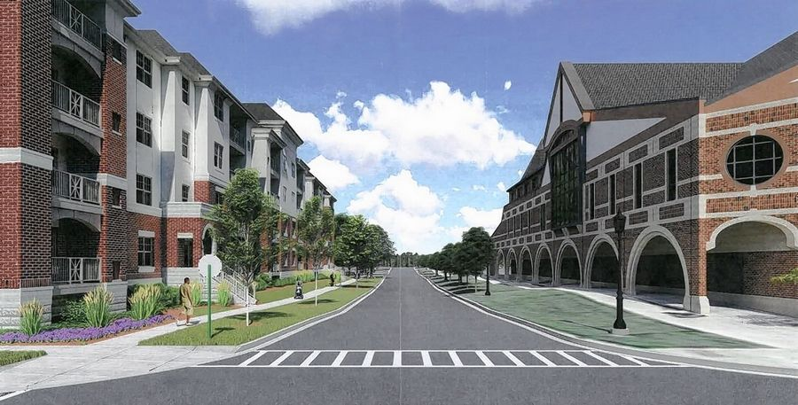 Developers have formally submitted plans for a four-story apartment building across from the Glen Ellyn Public Library.