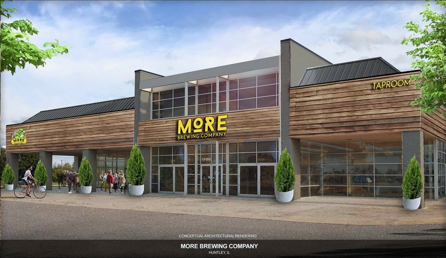 Villa Park-based More Brewing plans to begin renovations this spring for a brewery and brewpub restaurant at 13980 Automall Drive in Huntley. Plans include converting 14,000 square feet of the former Chevrolet dealership into a brewpub restaurant. The remaining 11,000 square feet would be used for production.