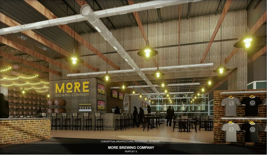 Villa Park-based More Brewing plans to begin renovations this spring on its second production facility, including a brewery and brewpub restaurant at 13980 Automall Drive in Huntley.