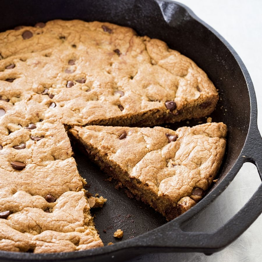"The recipe for this Chocolate Chip Skillet Cookie appears in the cookbook ""The Perfect Cookie."""