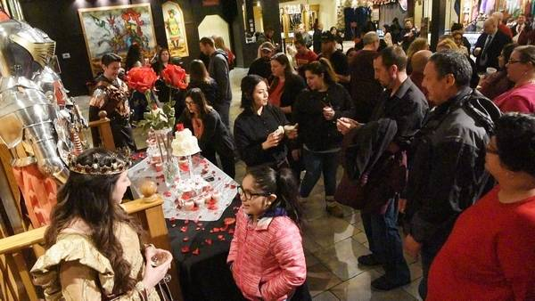 Knight and day: Couples renew vows on Valentine's at ...