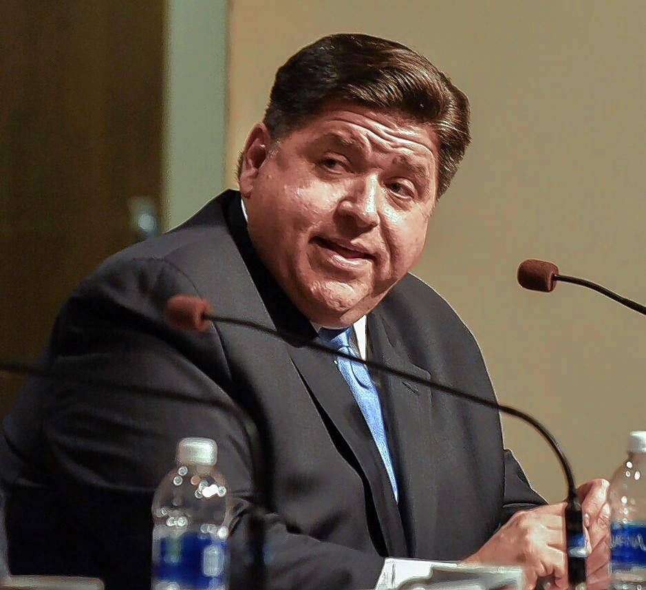 J.B. Pritzker speaks last year on the SIU campus.