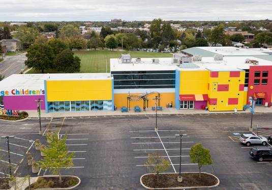 The DuPage Children's Museum property in Naperville is included in a redevelopment zone along 5th Avenue near the Naperville Metra station, but its future is unlikely to be decided before the April 2 election.