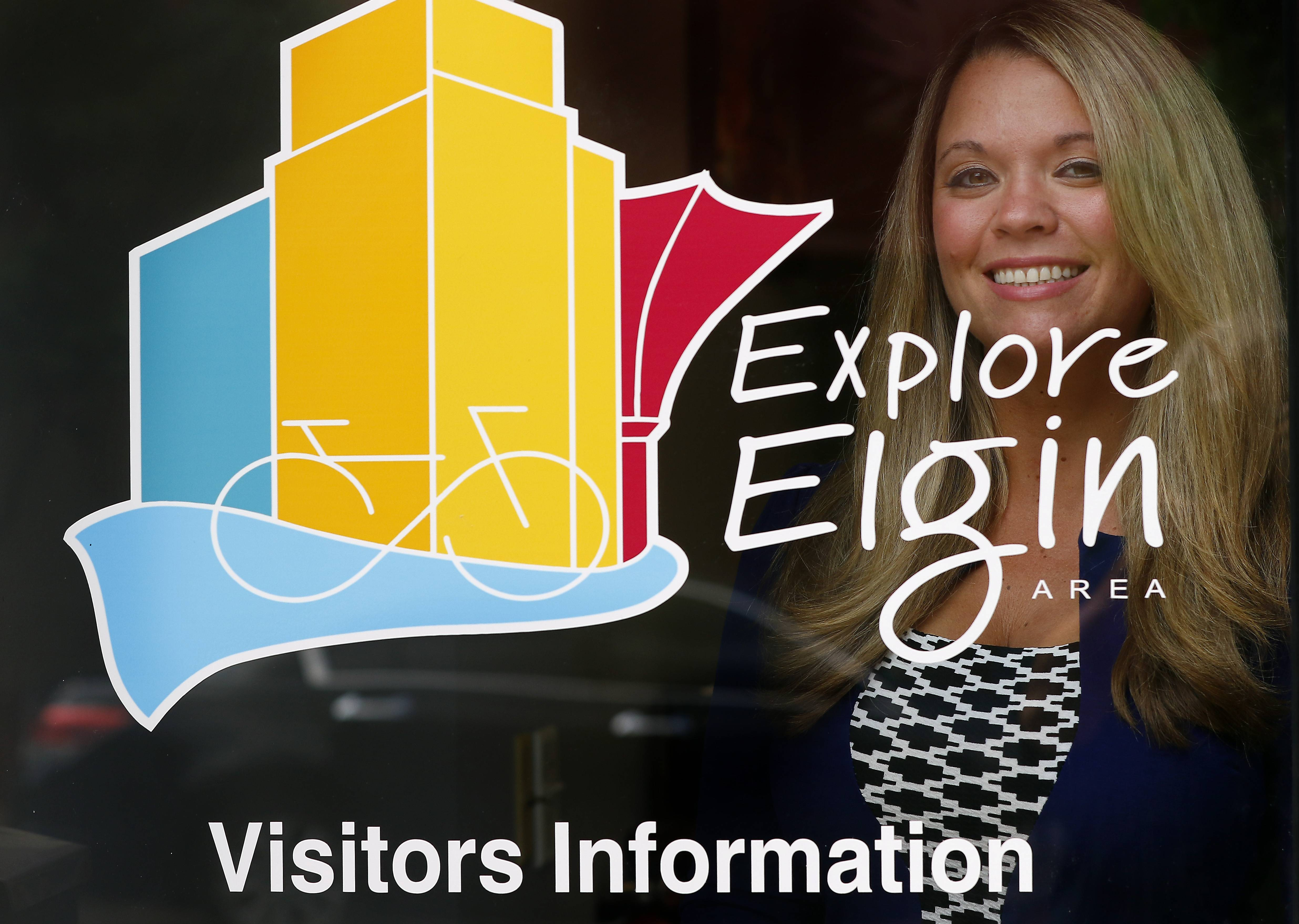 "The Elgin Area Convention and Visitors Bureau won an Illinois ""excellence in tourism"" award for its ""Explore Elgin"" branding campaign. Shown here is Krisilee Murphy, its executive director."