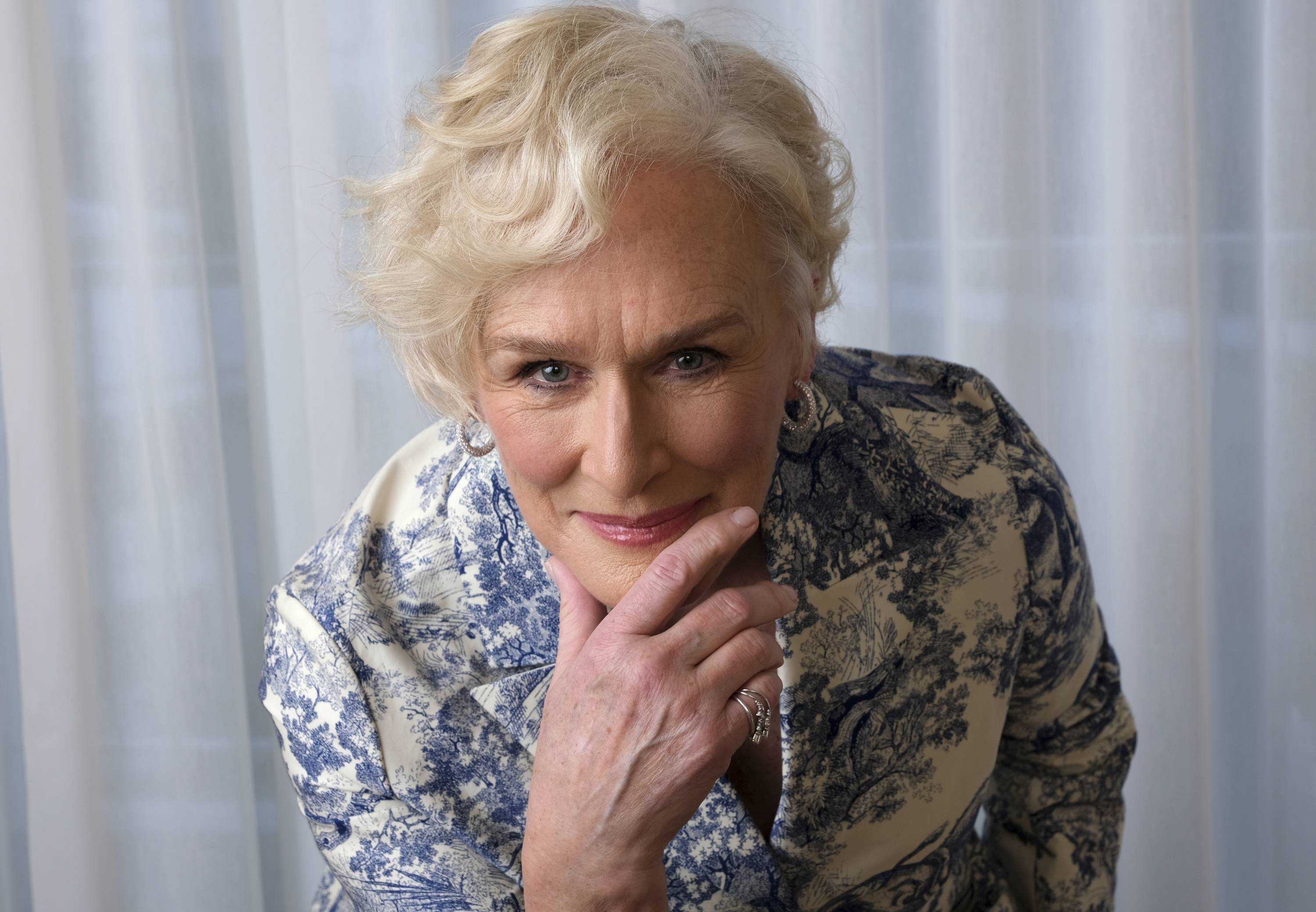 "Glenn Close is nominated for an Oscar for best actress for her role in ""The Wife."""