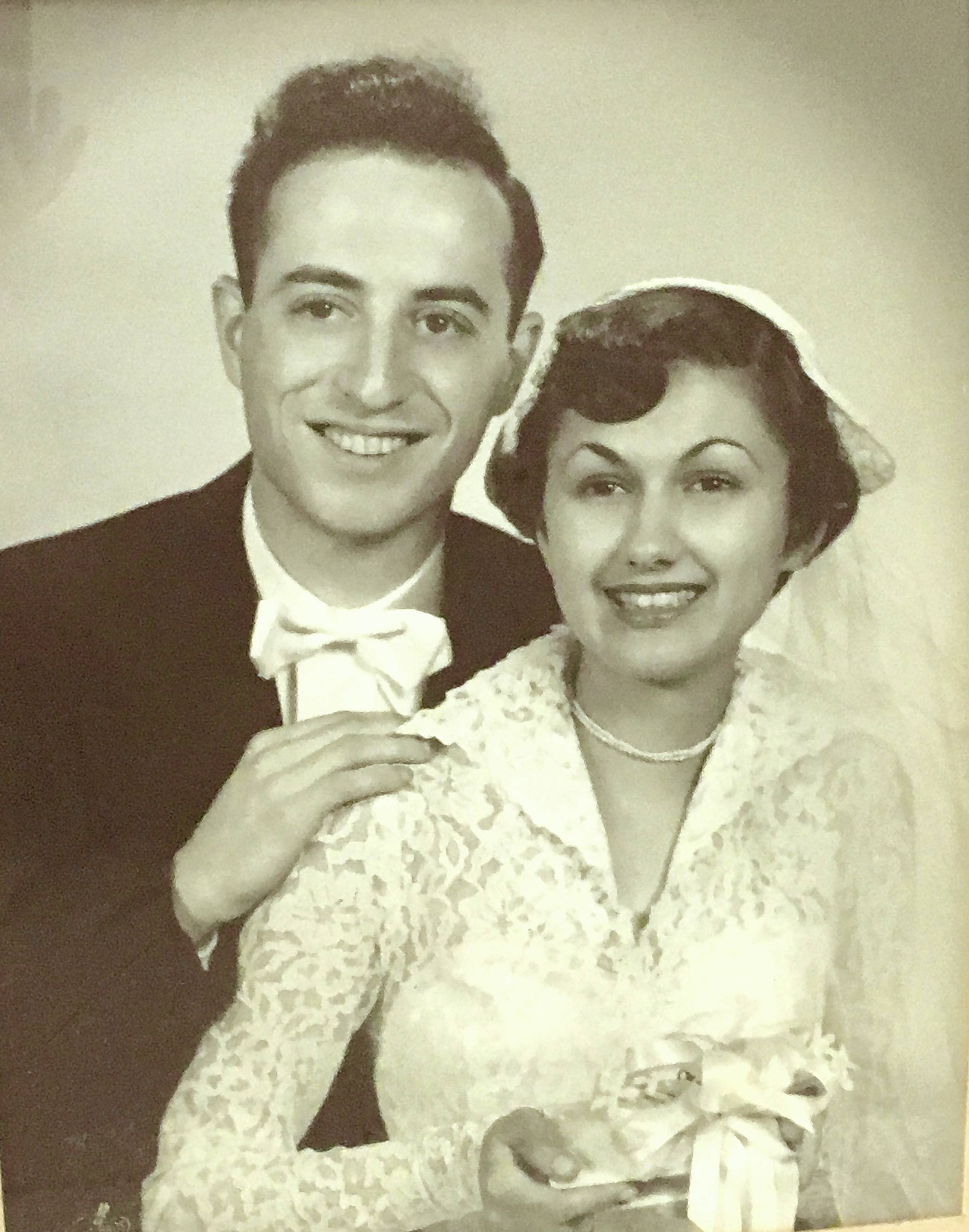 Marvin Rozner died late Friday night in Florida at 88. He is seen here with wife Gloria on their wedding day in the early 1950s.