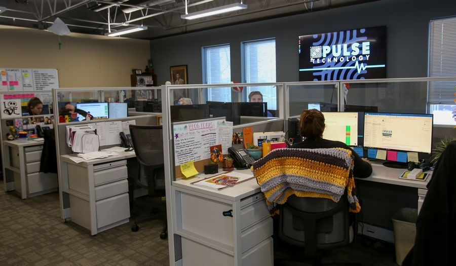 Pulse Technology in Carol Stream grew out of a small shop in Des Plaines where owner Vince Miceli sold calculators.