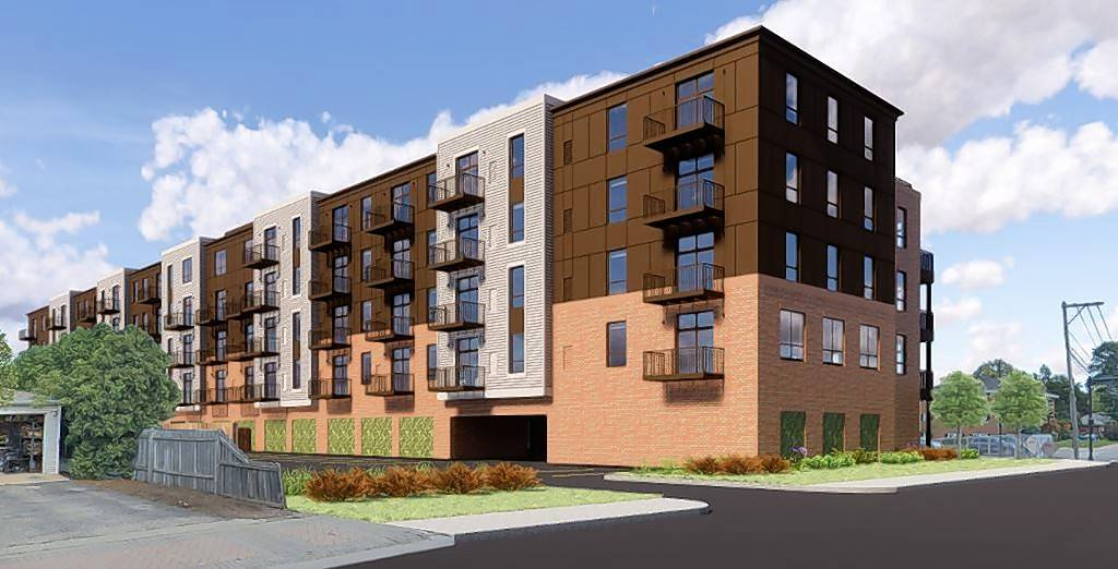 Developers are proposing a five-story, 97-unit apartment building at 10 N. Central St. in Mount Prospect's downtown. The village board is scheduled to vote on the proposal March 5.