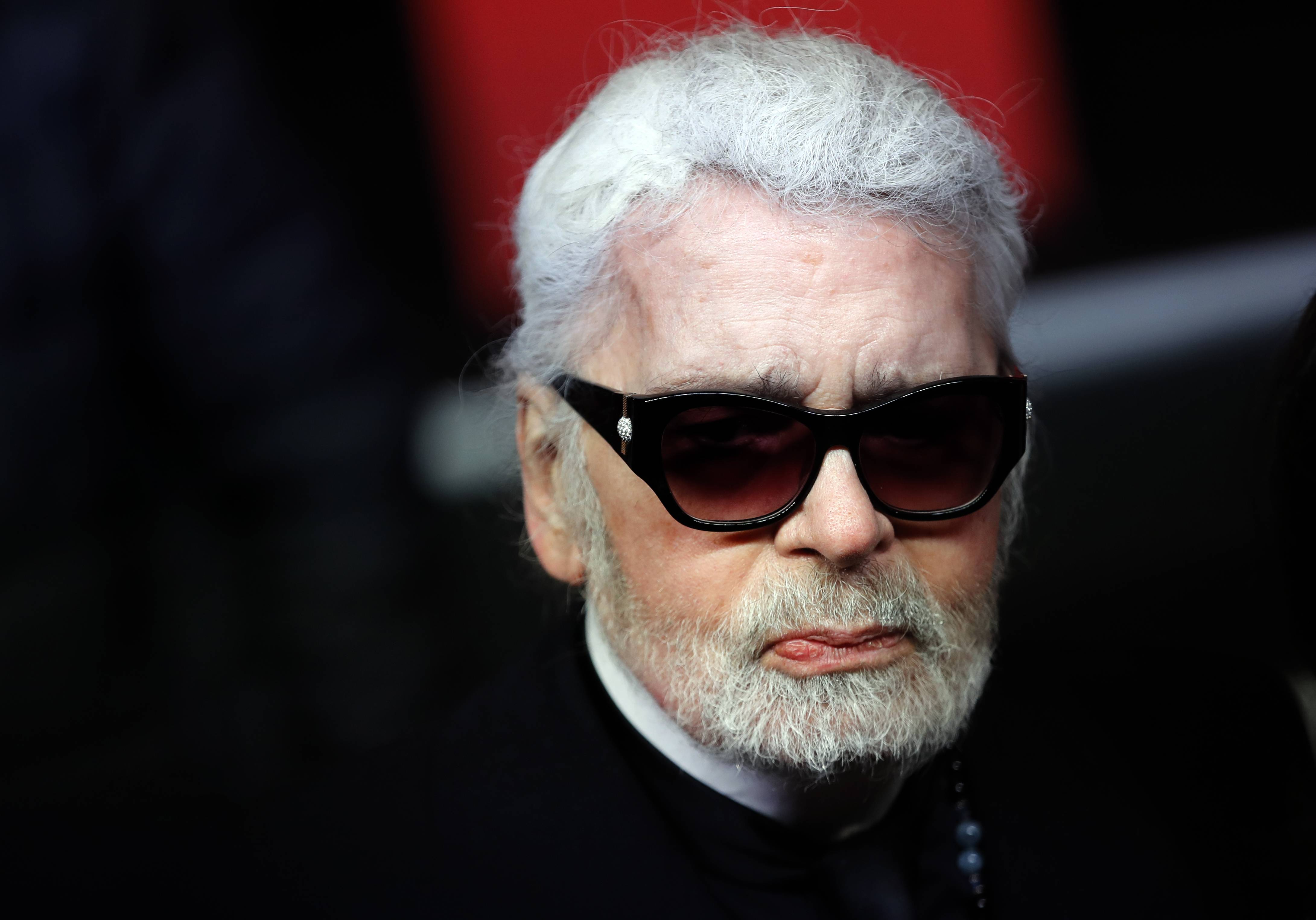 Fashion designer Karl Lagerfeld died Tuesday.