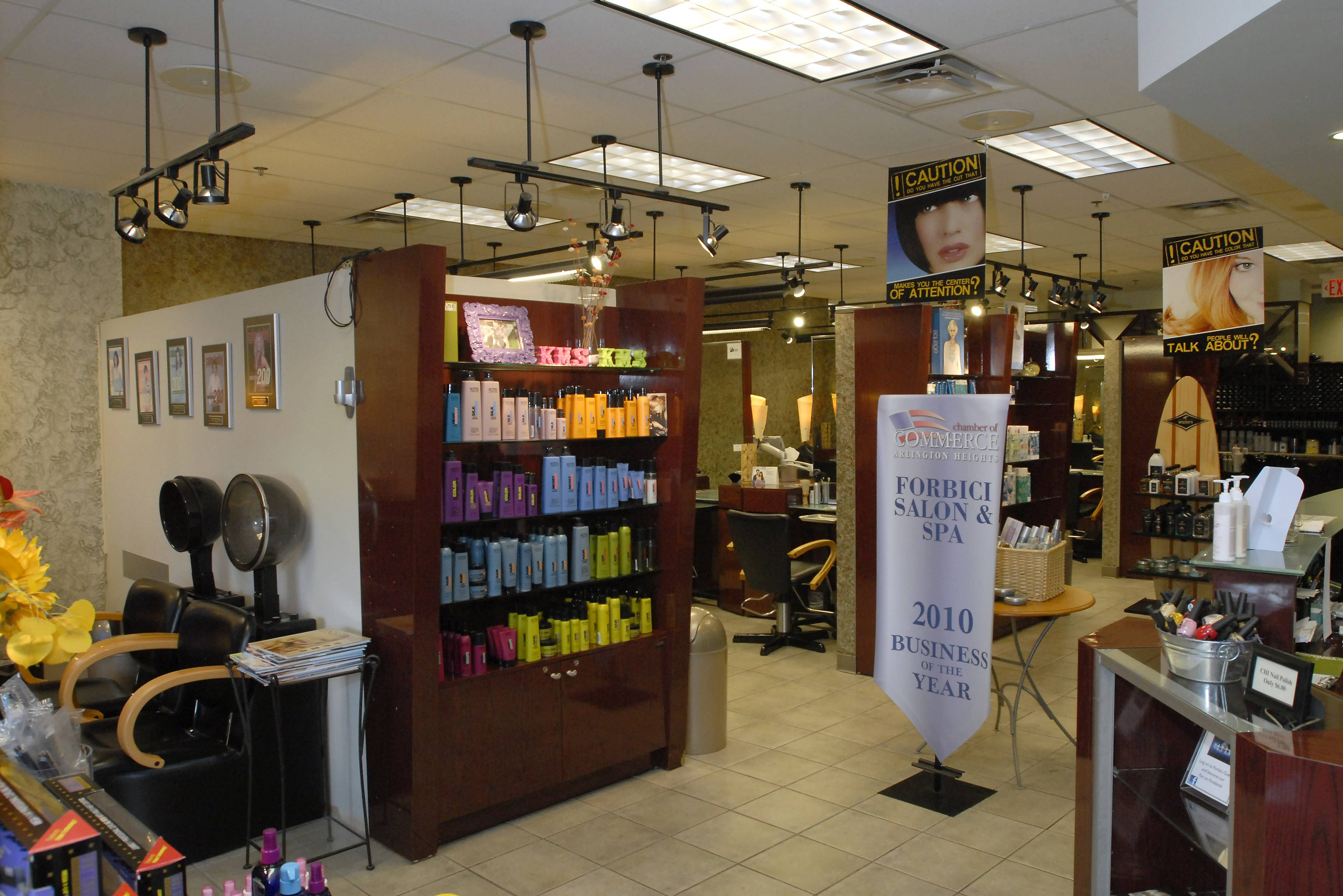Forbici Salon and Spa in downtown Arlington Heights is poised to become the first salon in town to sell alcohol to customers, after the village board Monday approved a new liquor license classification that would allow it.