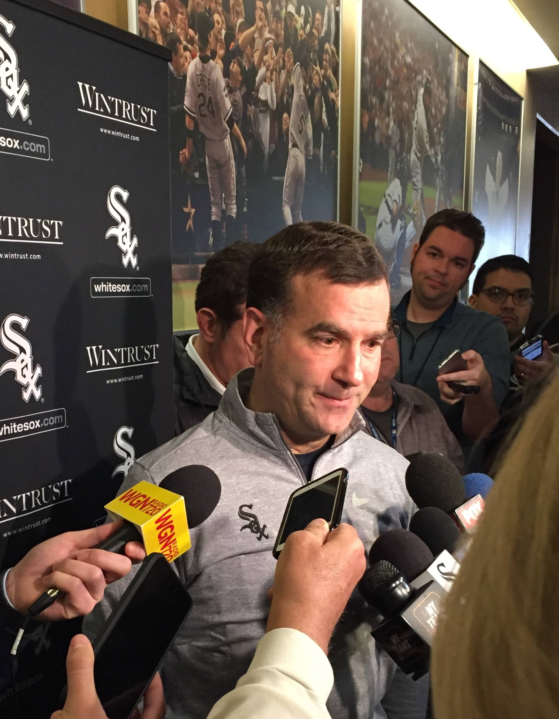 White Sox general manager Rick Hahn said he's not happy about Manny Machado signing with the Padres, but he's not going to let the decision darken a bright future.
