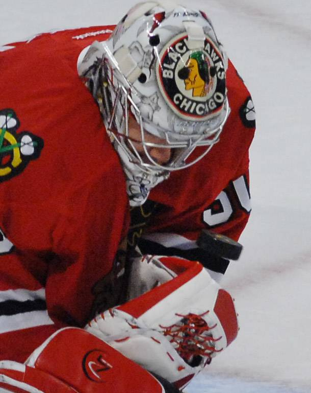 Goalie Corey Crawford must still clear one hurdle before he's medically cleared to return to game action for the Chicago Blackhawks.
