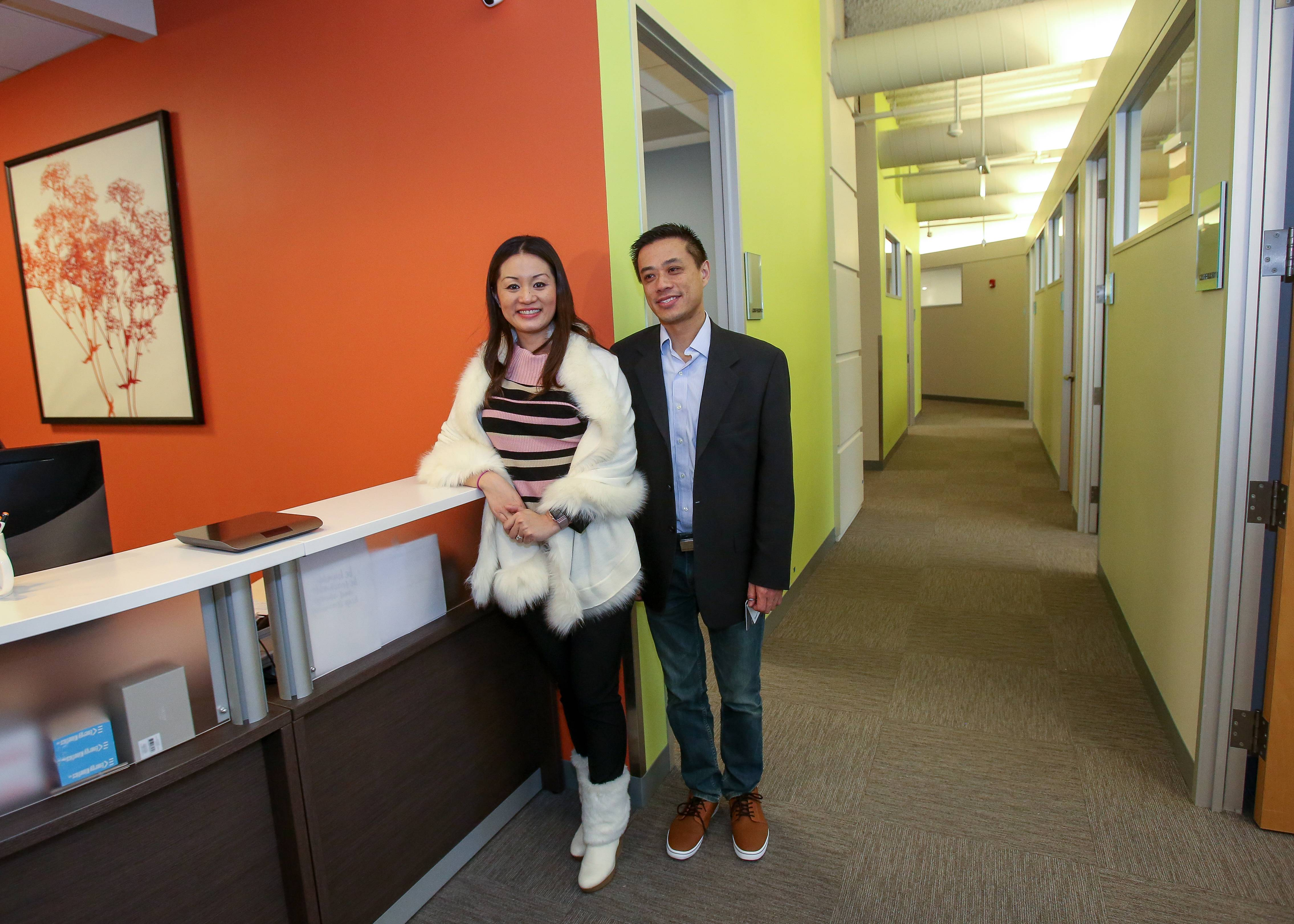 Franchisees Joshua and Ashley Shi have established Office Evolution coworking centers in Lisle and Naperville. The Colorado-based company aims to expand to offer as many as 30 locations across the region.