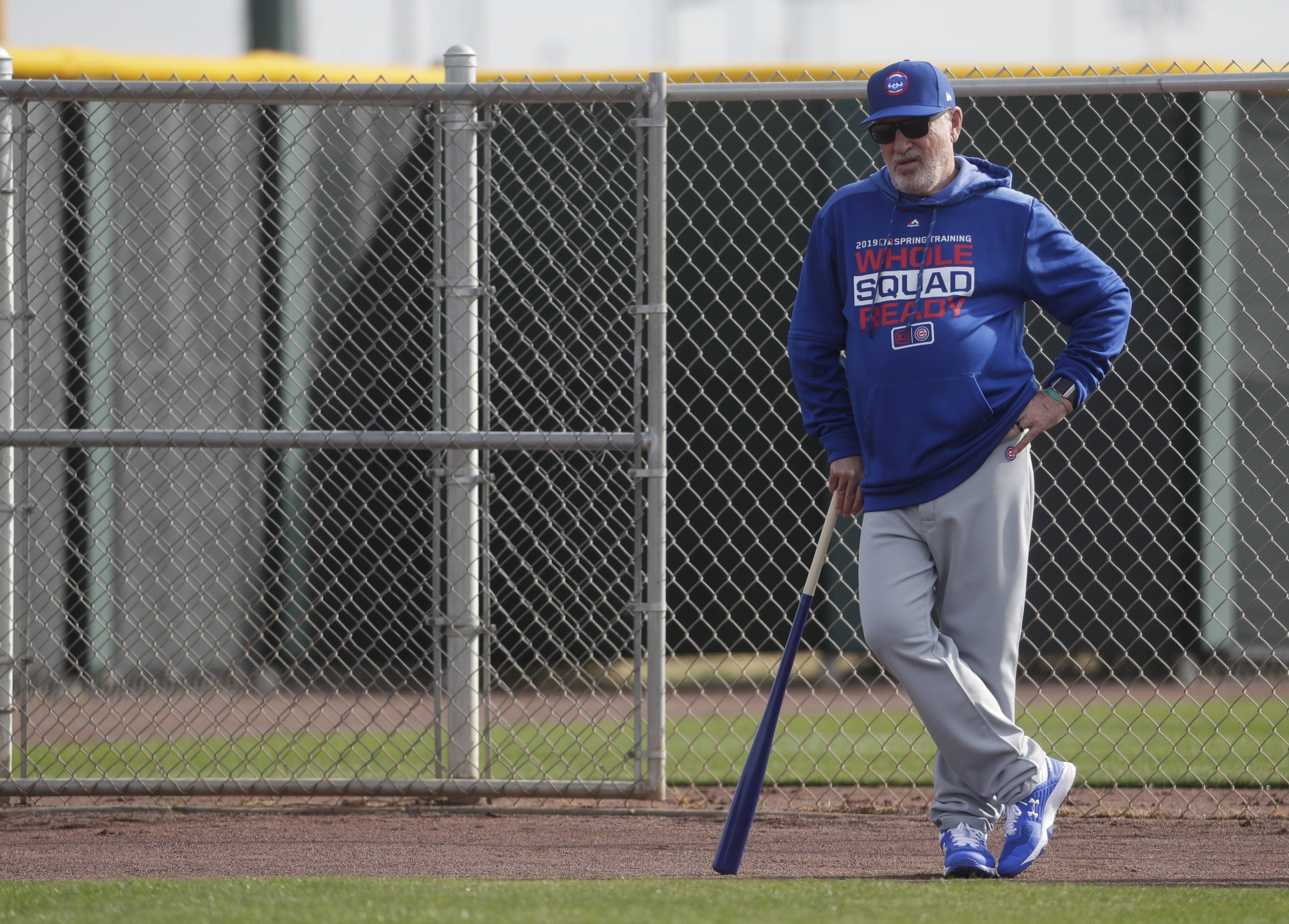 Chicago Cubs manager Joe Maddon says he hasn't noticed much of a change in his own coaching style in the early days of spring training but that he does love working with millennials.