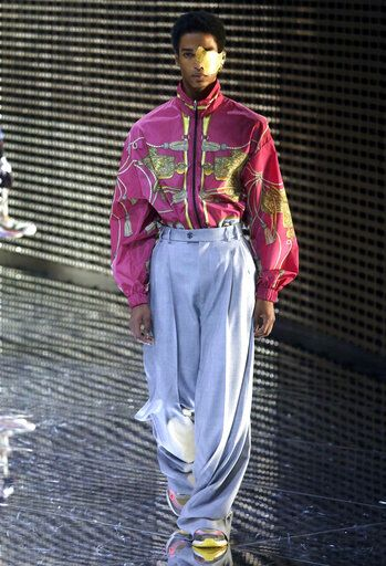 A model presents a creation by Gucci women s fall-winter 2019-2020  collection 21953a85f39