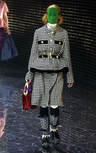 e5c806c3 A model presents a creation by Gucci women's fall-winter 2019-2020  collection,