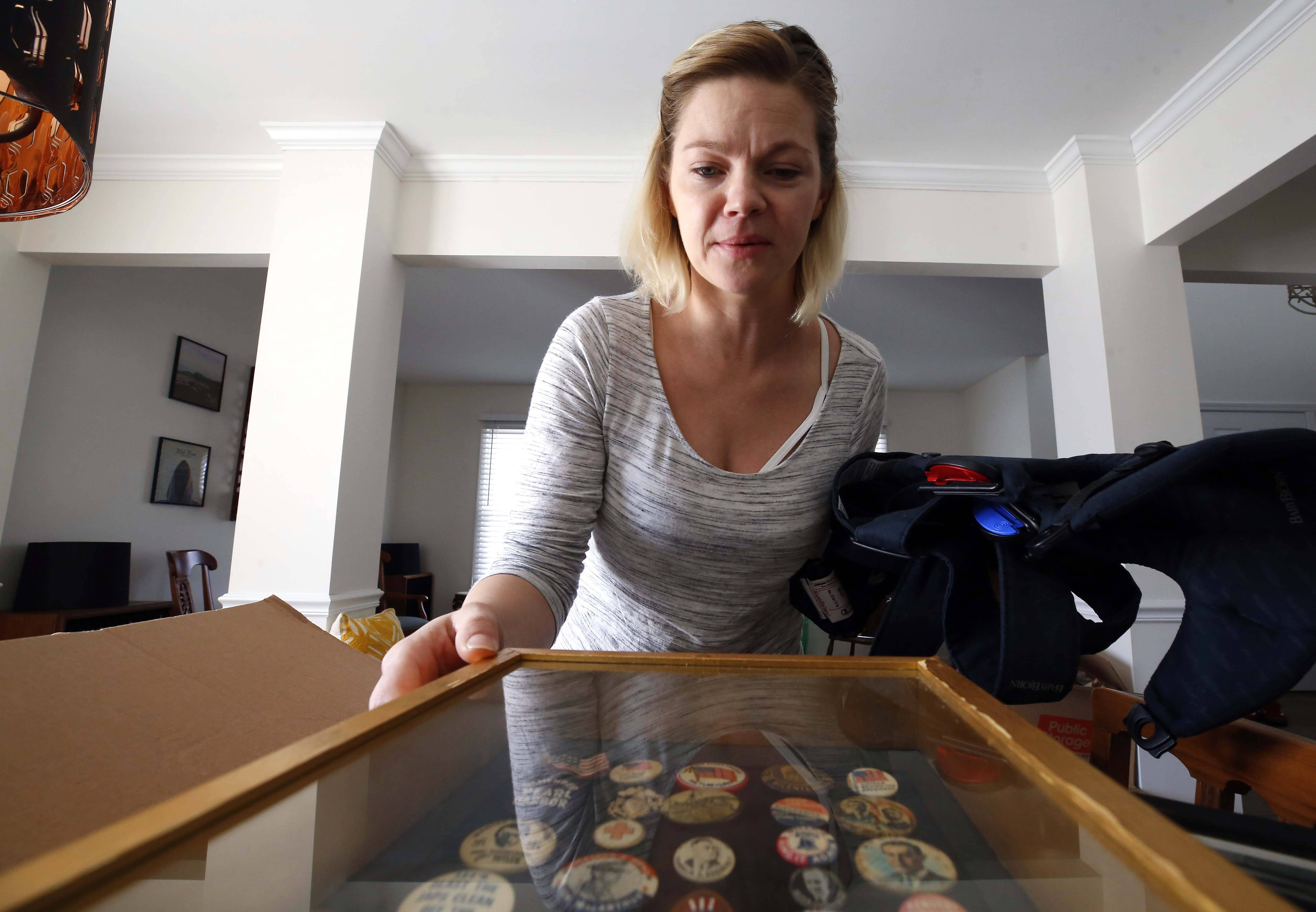 "When Laura Carlson Spencer of Elburn realized her prized collection of antique political buttons accidentally had been donated to Goodwill, she rushed to the store. But someone had bought the entire collection. On Wednesday, buyer Frank Mazza, 55, of West Chicago returned the buttons. ""It makes me feel good,"" Mazza said."