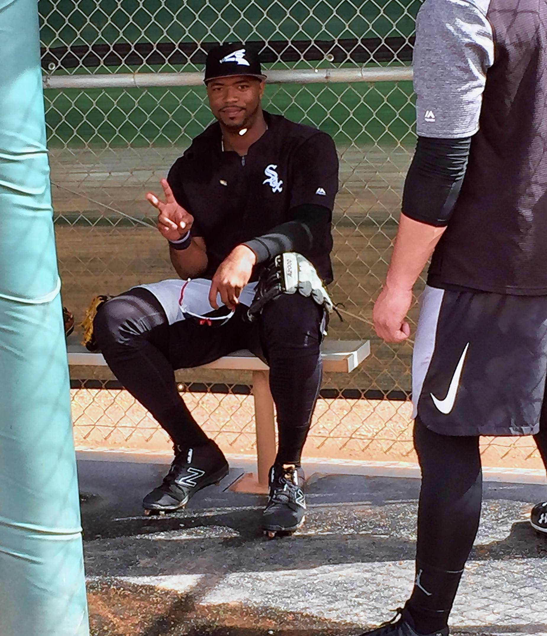 Eloy Jimenez is at peace during a spring training break this week in Glendale, Ariz.