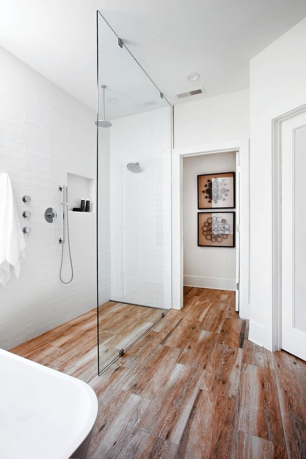 Many bathroom remodels involve the addition of walk-in showers.