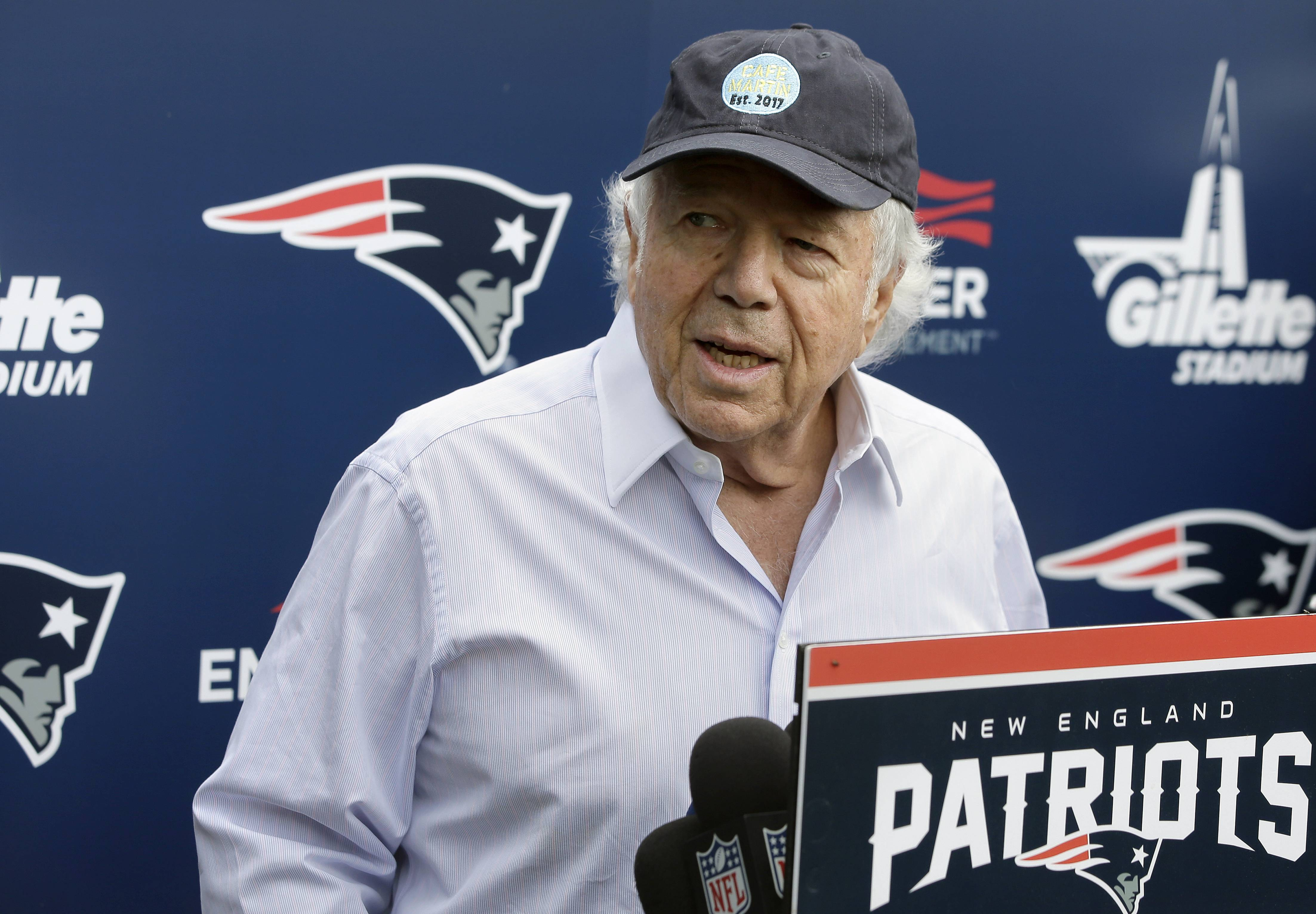 Police in Florida have charged New England Patriots owner Robert Kraft with misdemeanor solicitation of prostitution, saying they have videotape of him paying for a sex act inside an illicit massage parlor. Jupiter police told reporters Friday that the 77-year-old Kraft has not been arrested.