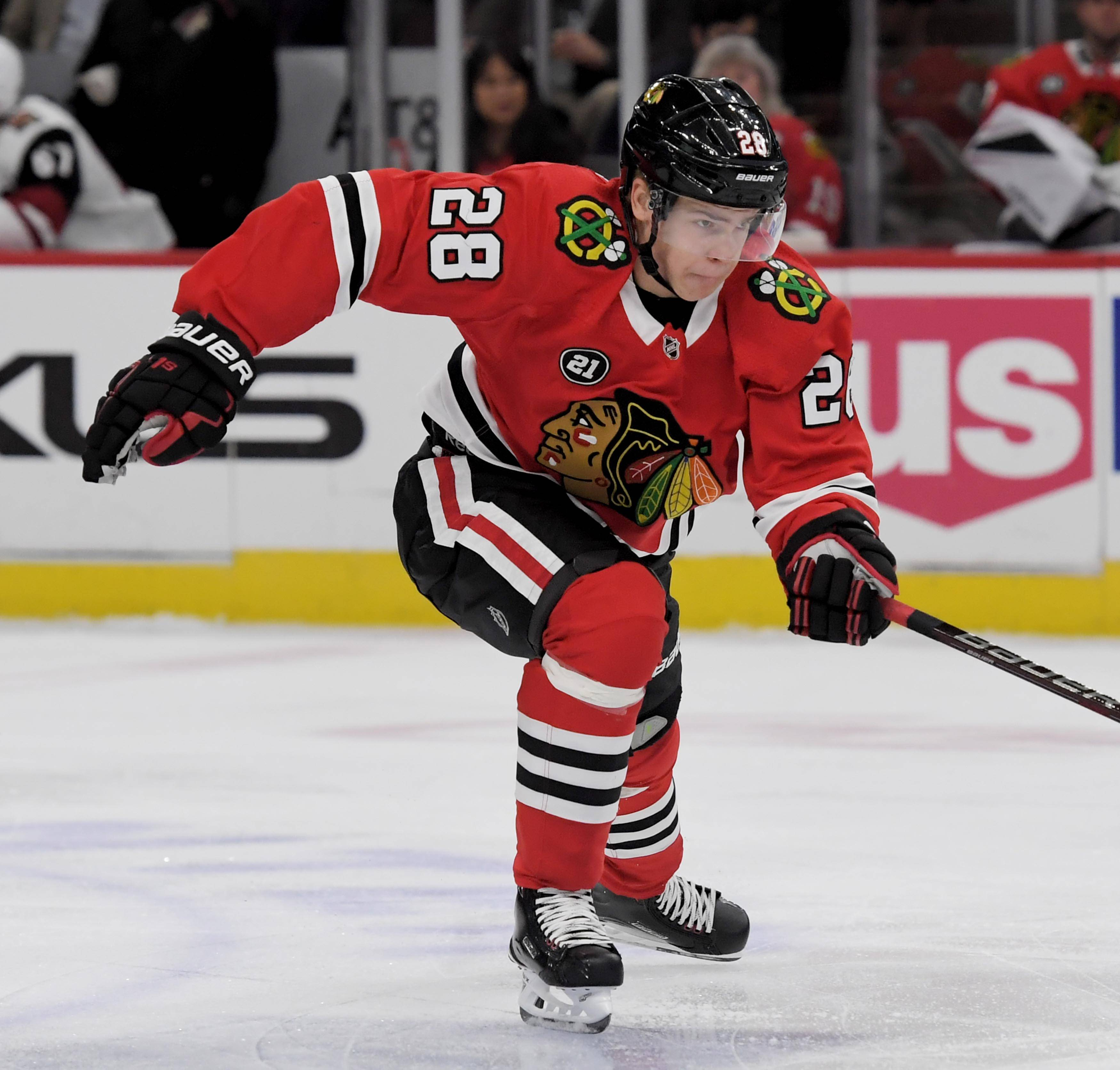 The Blackhawks Friday called up defenseman Henri Jokiharju from Rockford.