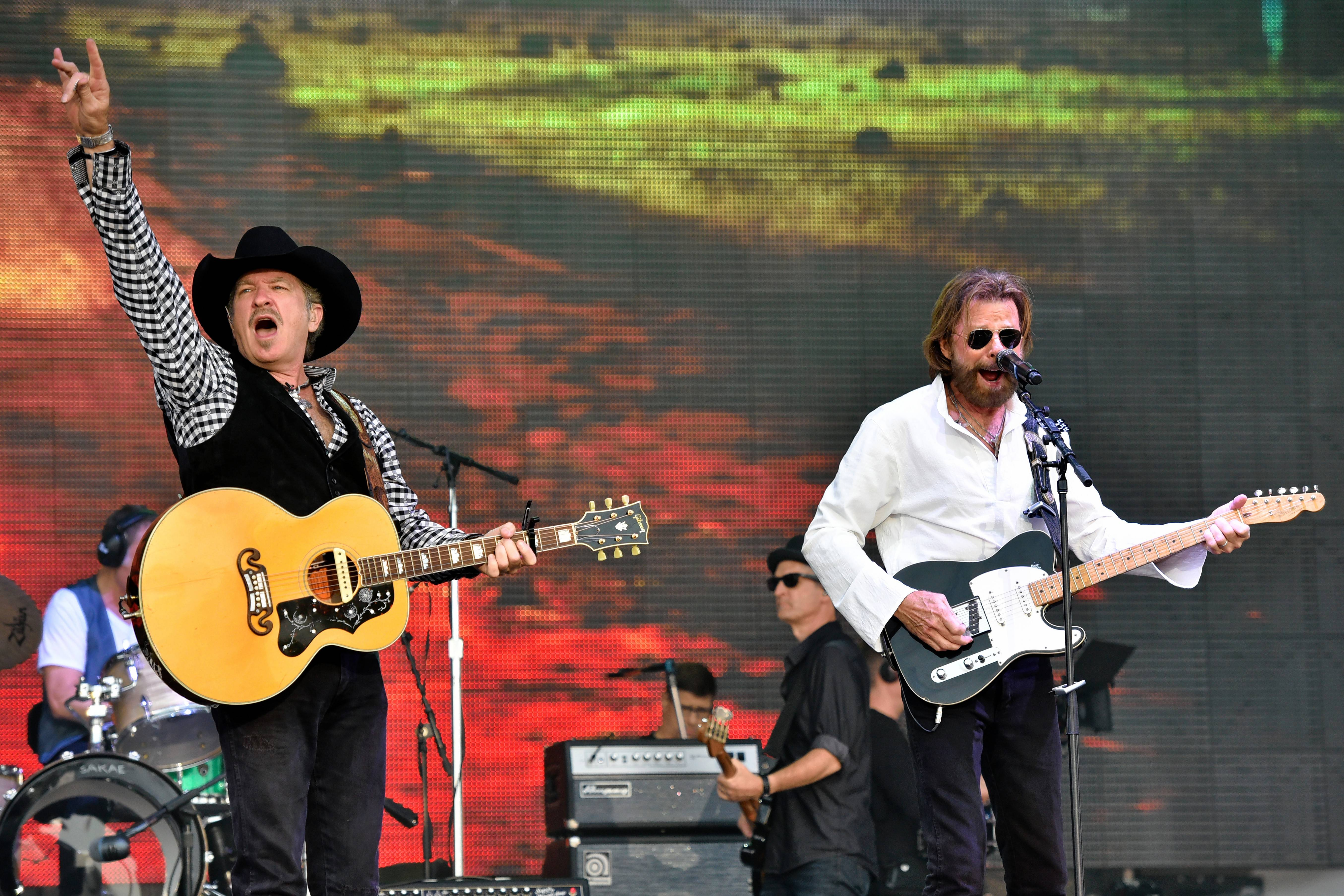 Brooks & Dunn, seen here performing at Chicago's LakeShake in 2016, recently returned to the studio for the first time in about a decade.