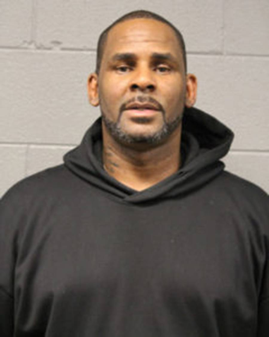 Robert Kelly, known as R. Kelly, appears in a booking photo provided by the Chicago Police Department on Saturday. MUST CREDIT: Chicago Police Department