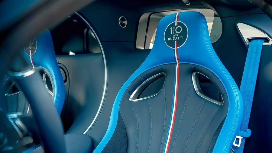 "The special ""110 an Bugatti""models have French-inspired red, white and blue badging."