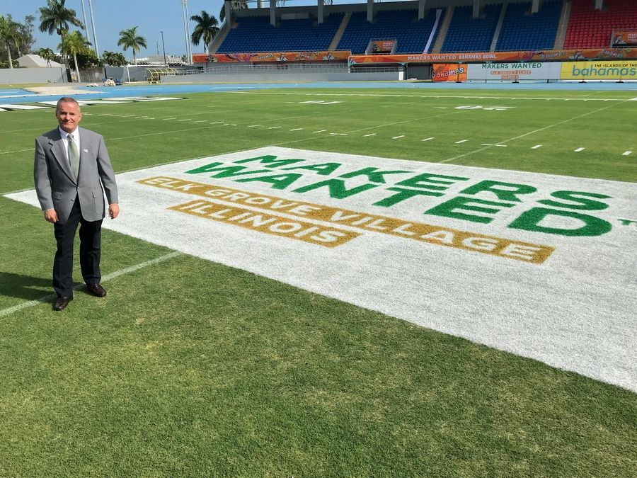 Elk Grove Village Mayor Craig Johnson said he hopes the village's renewed sponsorship of the Makers Wanted Bahamas Bowl in 2019 will keep Elk Grove's brand name in the forefront of businesses around the world.