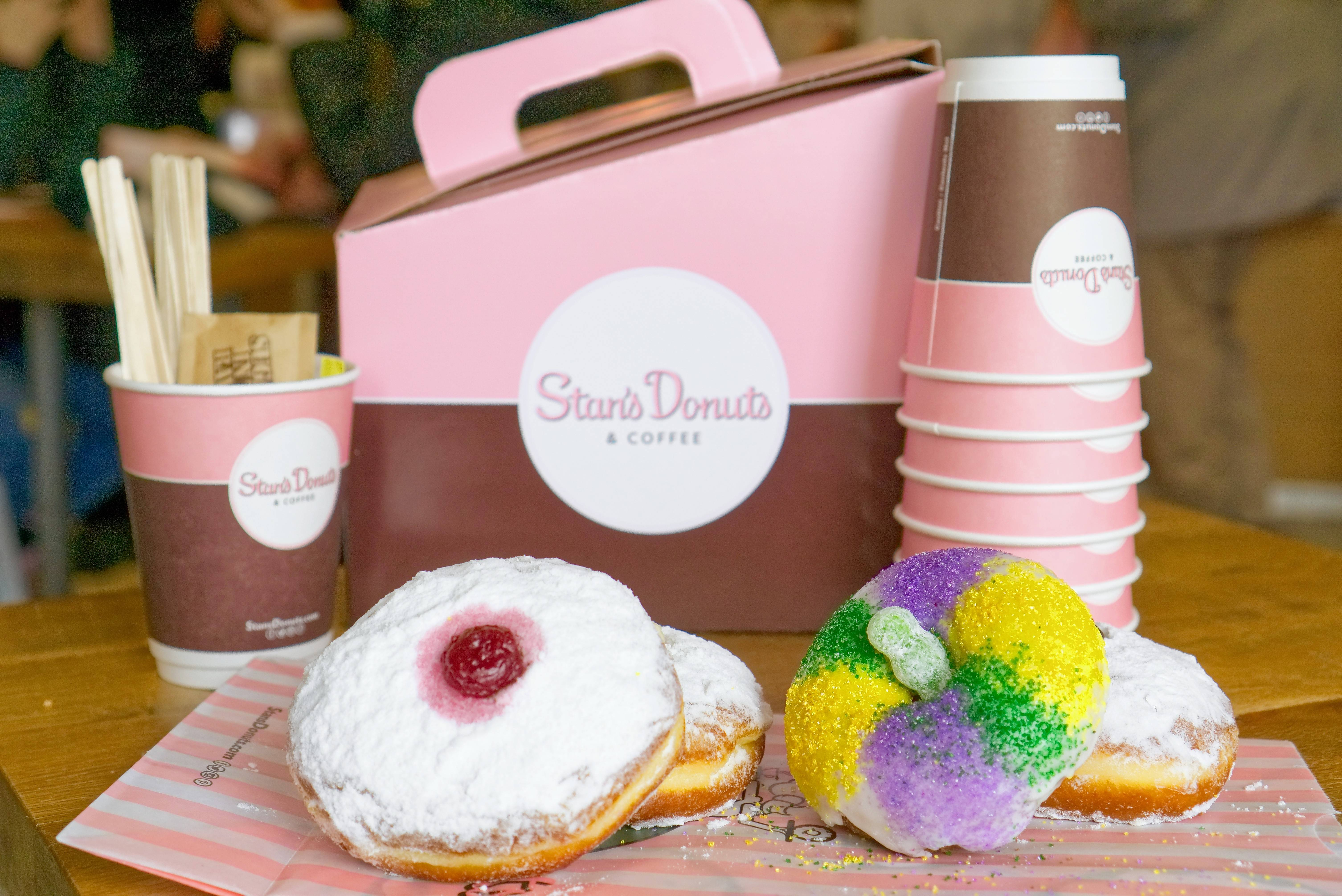 Indulge your sweet tooth March 1-5 with Stan's Donuts' Paczkis or King Cake Donut.
