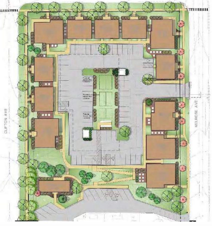Full Circle Communities plans to turn the former Larkin Center property in Elgin into affordable housing. The plan includes 12 new buildings on the northern portion of the property, shown here, and preserves the main building dating back to 1912.