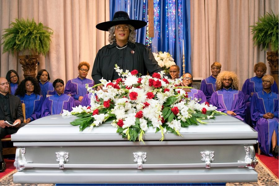 "Madea (Tyler Perry) and company head to Georgia in ""Tyler Perry's A Madea Family Funeral."""