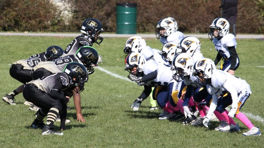 Sunday afternoon football game at Ost Field in Palatine on October 21, 2018. Photo courtesy of Palatine Park District.