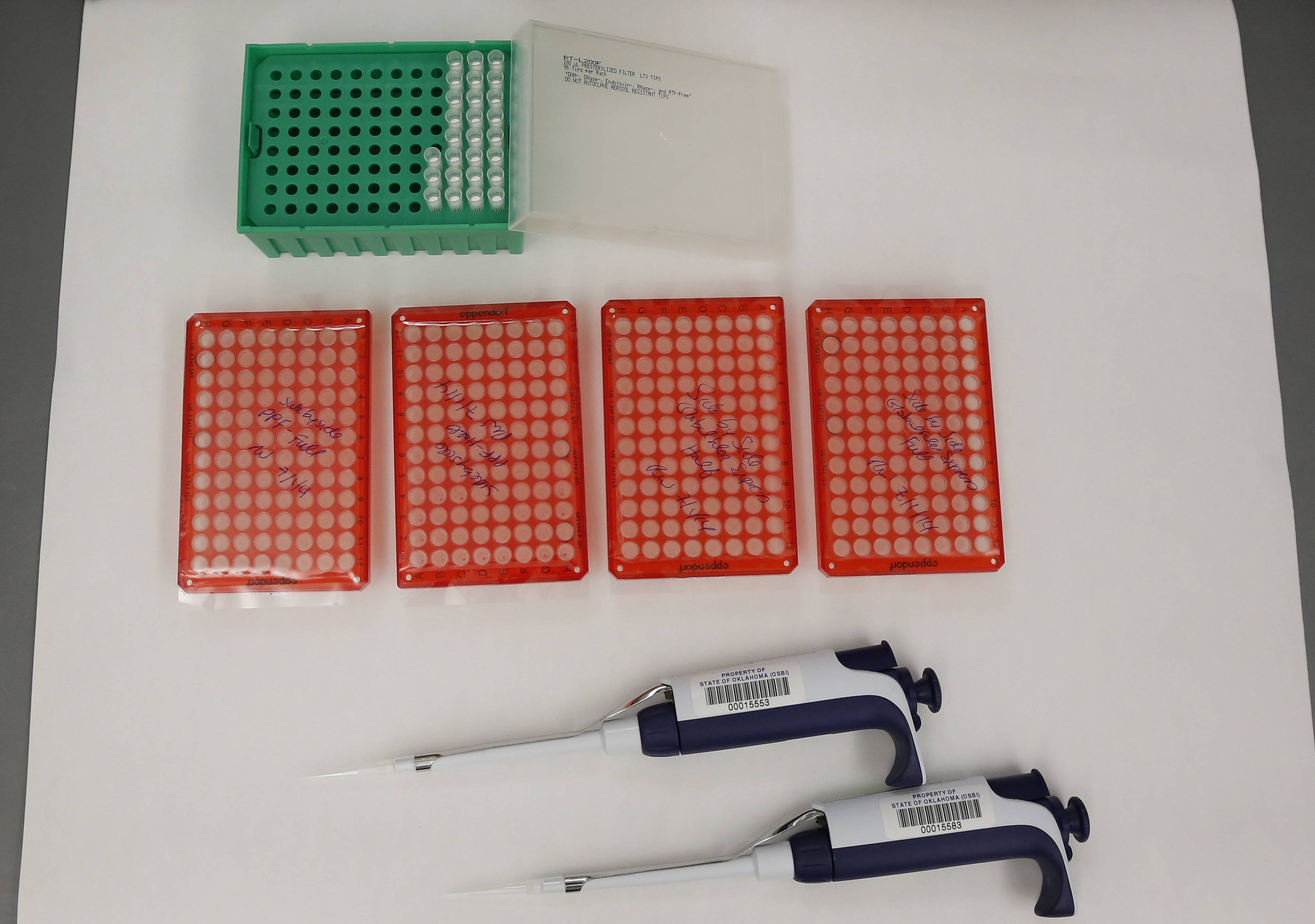 Tools used for DNA testing.