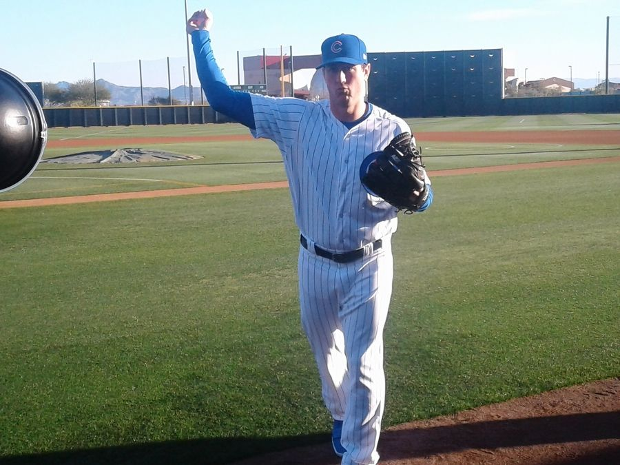 Relief pitcher Rob Scahill, a graduate of Willowbrook High School, is hoping to make the Cubs' roster this year.