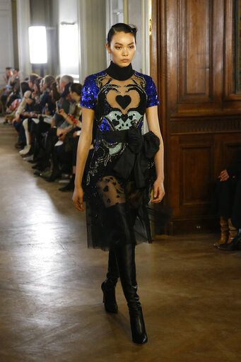 a50c1b7d A model wears a creation as part of the Elie Saab ready to wear Fall-
