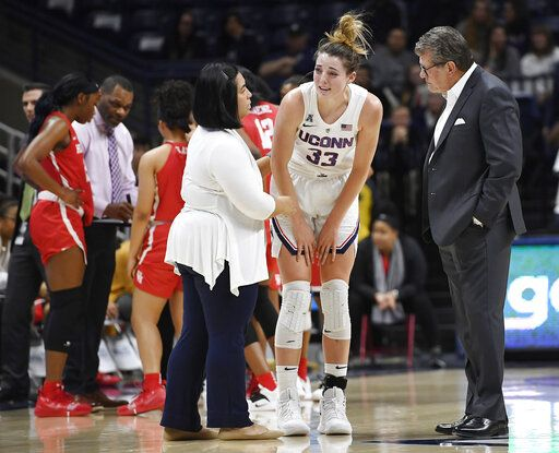 Injured Samuelson sits out No  2 UConn's finale at USF