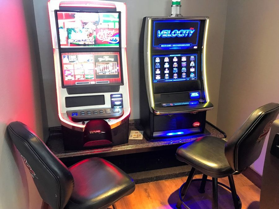 The city of Elgin wants to impose video gambling fees for distributors and establishments and limit the types of establishments that can have video gambling in the future. Pictured here are video gambling terminals at Alexander's Restaurant in Elgin.