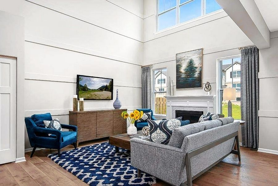 With it's abundance of windows and natural light, the great room in the Berkley model home at Lexington Heritage in Arlington Heights demonstrates how buyers desire to bring the outdoors in.