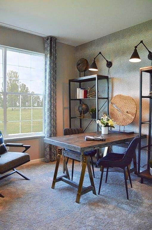 A flex room in the Huntington Chase model home shows how buyers can personalize their spaces, says Kate Brennan, designer for Eleni Interiors of Naperville.