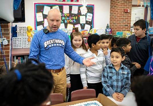 Brentwood Elementary School Principal Mike Merritt was honored by students Friday after being named 2019 Illinois Elementary Principal of the Year by the Illinois Principals Association.