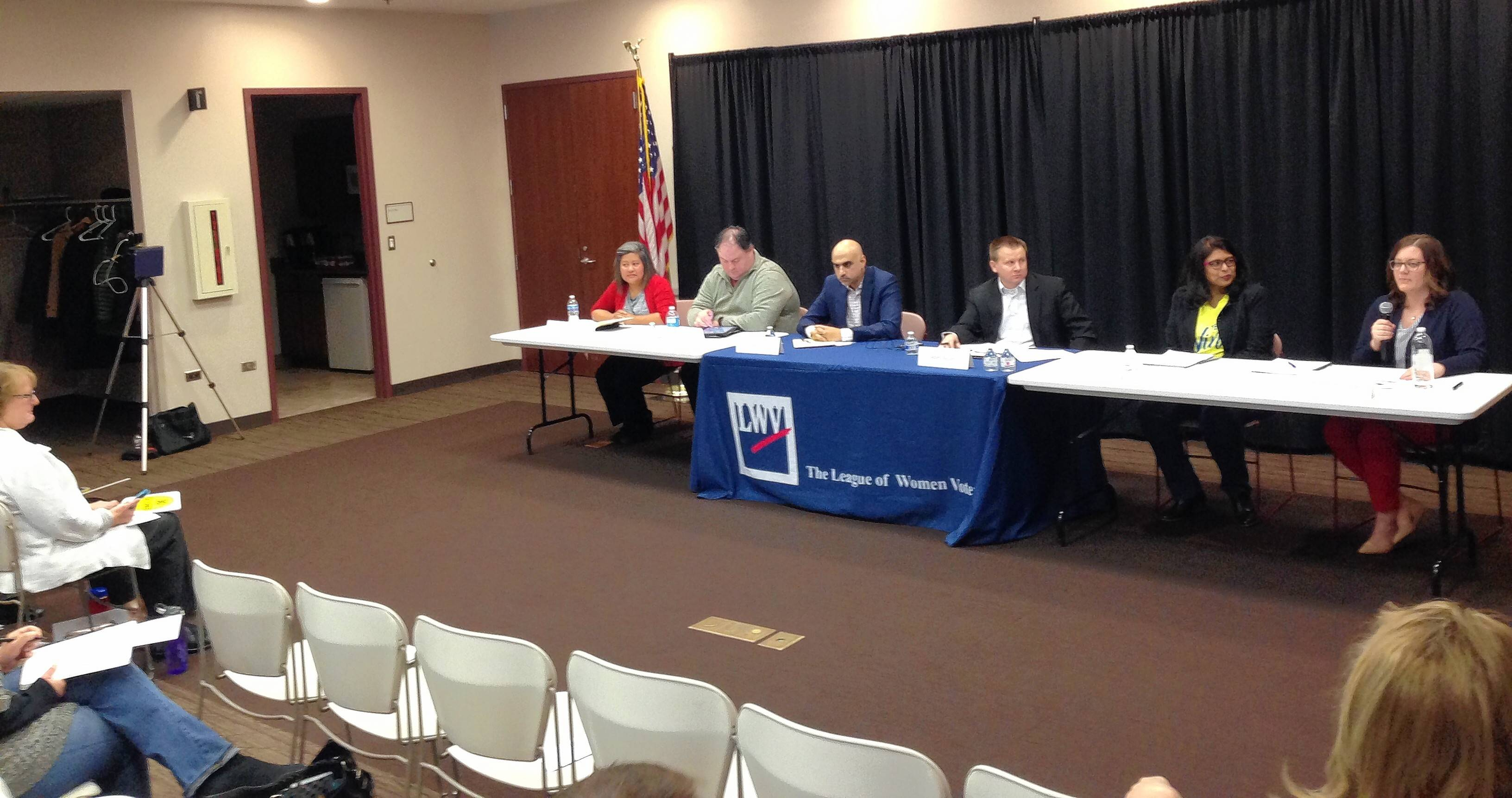District 15 candidates address priorities at League of Women Voters forum