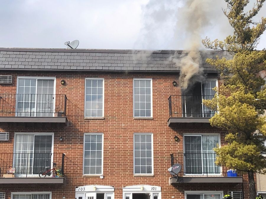 A grease fire left several units in a Carol Stream apartment building with smoke and water damage.
